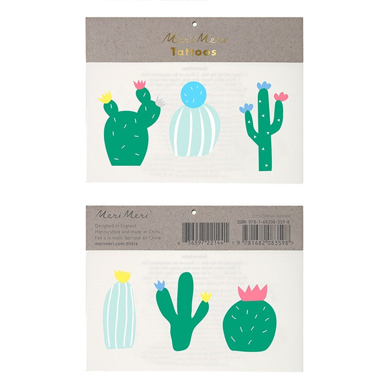 "Meri Meri ""Cactus"" Tattoos, MM-Meri Meri UK, Putti Fine Furnishings"
