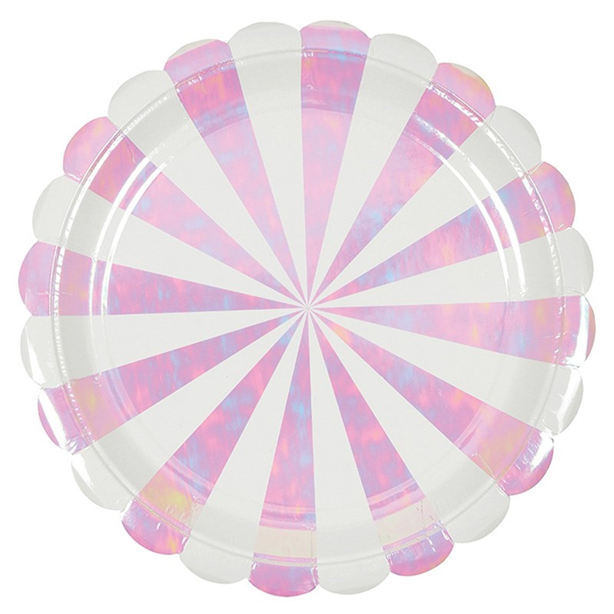 Meri Meri Iridescent Paper Plate - Large, MM-Meri Meri UK, Putti Fine Furnishings