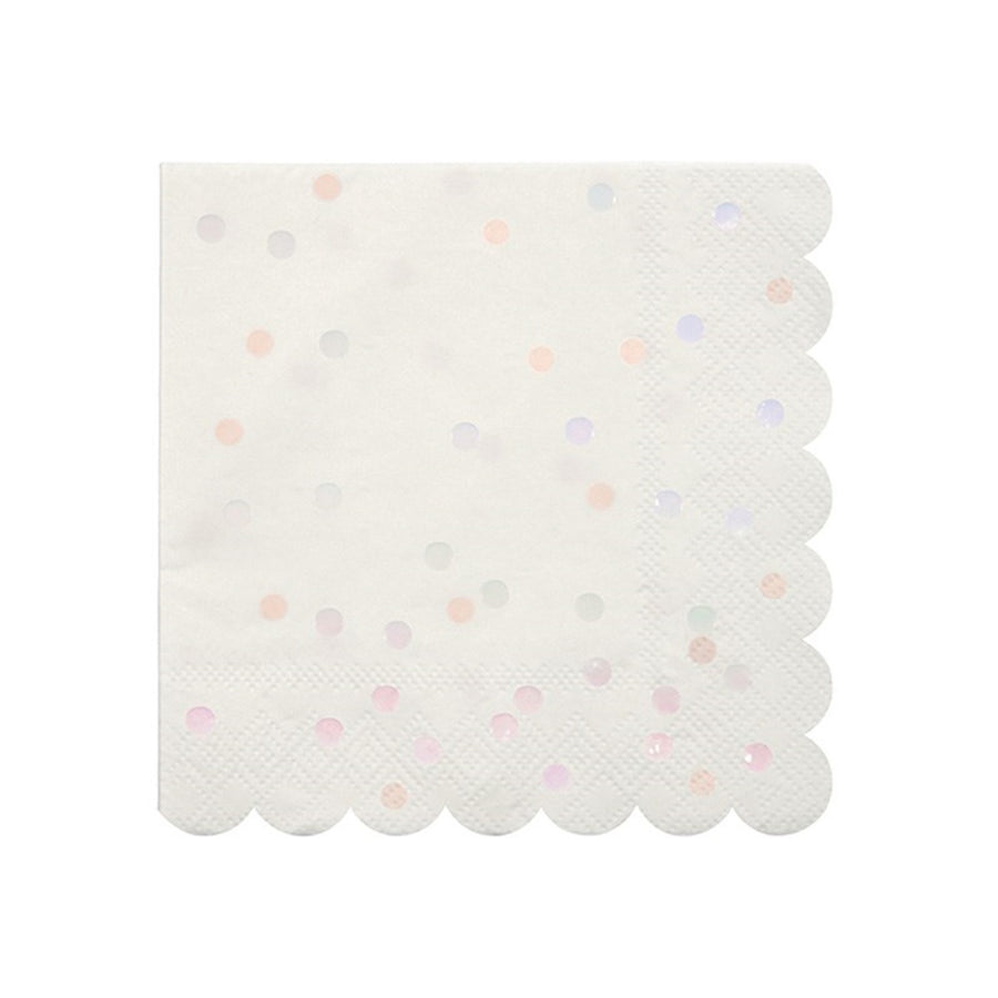 Meri Meri Iridescent Spotted Foil Paper Napkins - Small, MM-Meri Meri UK, Putti Fine Furnishings