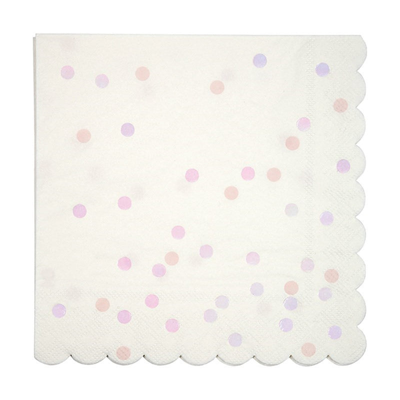 Meri Meri Iridescent Spotted Foil Paper Napkins - Large, MM-Meri Meri UK, Putti Fine Furnishings