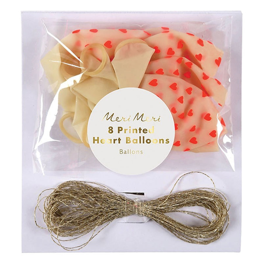 Neon Heart Pattern Balloons, MM-Meri Meri UK, Putti Fine Furnishings