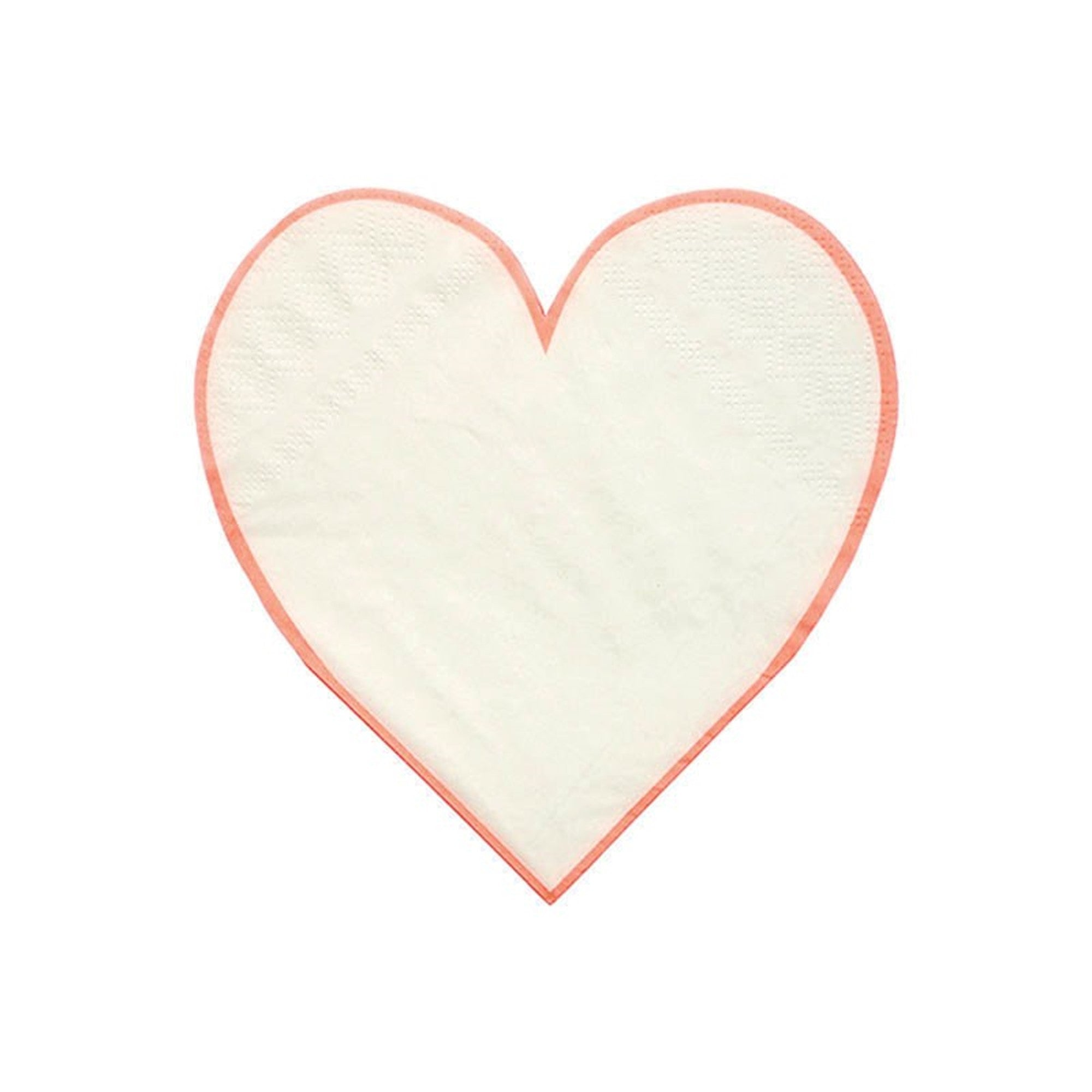 Meri Meri Coral Outline Heart Paper Napkin, MM-Meri Meri UK, Putti Fine Furnishings