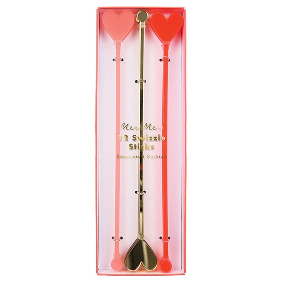 Meri Meri Heart Swizzle Sticks, MM-Meri Meri UK, Putti Fine Furnishings