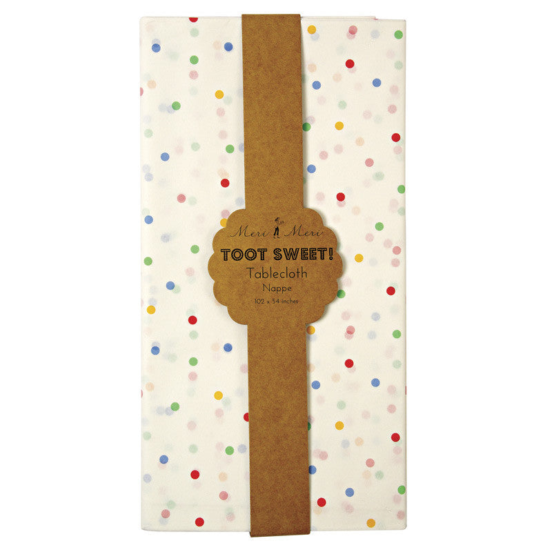 "Meri Meri ""Toot Sweet"" Spotty - Paper Tablecloth -  Party Supplies - Meri Meri UK - Putti Fine Furnishings Toronto Canada - 4"
