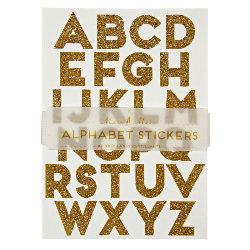 Meri Meri All Wrapped Up Alphabet Stickers - Gold