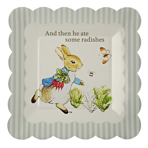 Meri Meri Peter Rabbit Small Paper Plates -  Party Supplies - Meri Meri UK - Putti Fine Furnishings Toronto Canada - 1