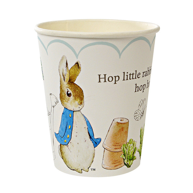 Meri Meri Peter Rabbit Paper Cups -  Party Supplies - Meri Meri UK - Putti Fine Furnishings Toronto Canada - 1