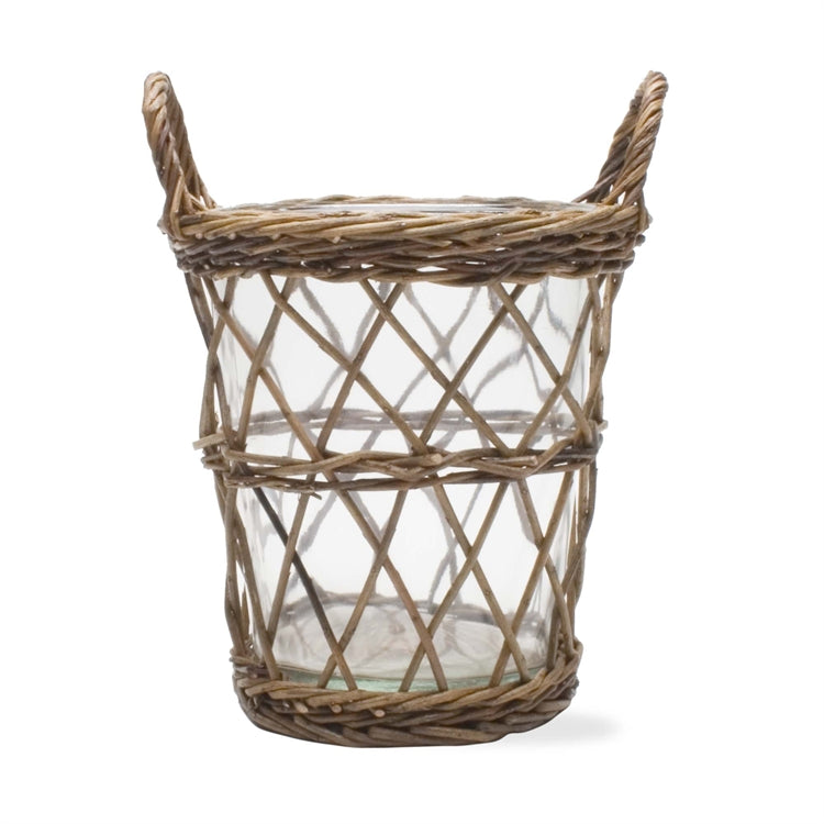 Woven Willow Ice Bucket Wine Cooler