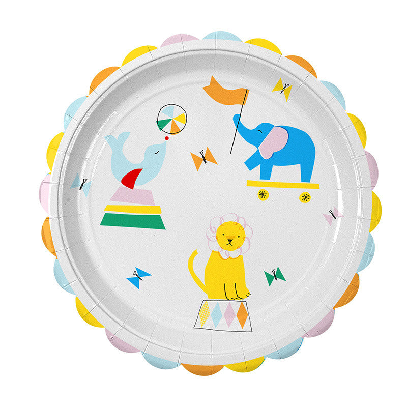 Meri Meri Silly Circus - Large Paper Plates -  Party Supplies - Meri Meri UK - Putti Fine Furnishings Toronto Canada - 1