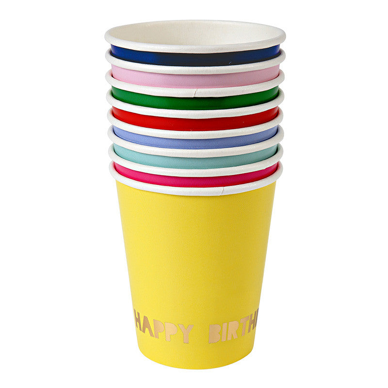 "Meri Meri ""Happy Birthday"" Paper Cups, MM-Meri Meri UK, Putti Fine Furnishings"