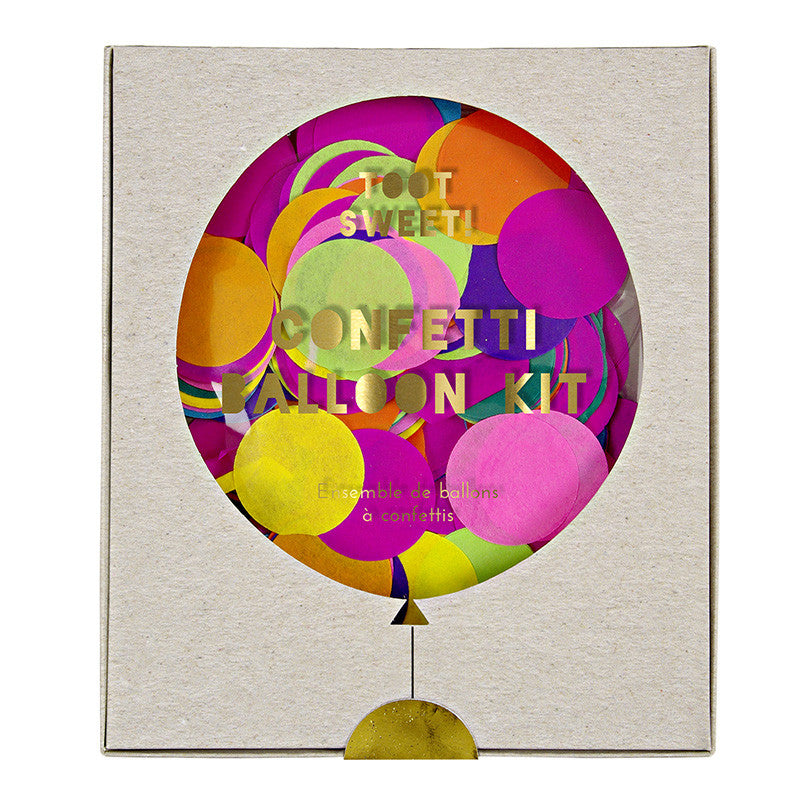 Meri Meri Confetti Balloon Kit - Multicolor Brights, MM-Meri Meri UK, Putti Fine Furnishings