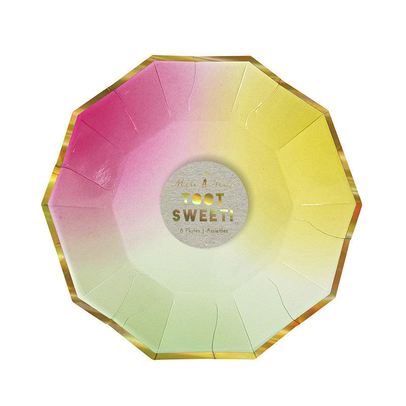 "Meri Meri ""Toot Sweet"" Ombre Small Paper Plates -  Party Supplies - Meri Meri UK - Putti Fine Furnishings Toronto Canada - 1"
