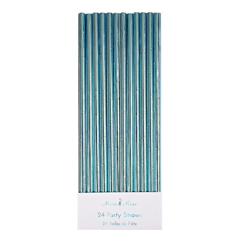 Aqua Foil Straws -  Party Supplies - Meri Meri UK - Putti Fine Furnishings Toronto Canada
