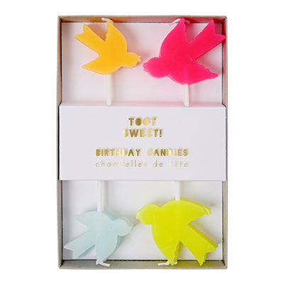 """Pretty Birdie"" Candles -  Party Supplies - Meri Meri UK - Putti Fine Furnishings Toronto Canada - 1"