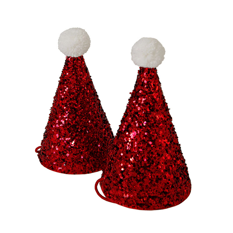 Meri Meri Mini Glitter Santa Hats, MM-Meri Meri UK, Putti Fine Furnishings