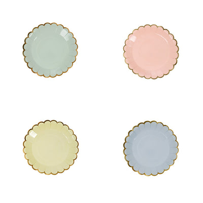 Meri Meri Pastel - Canape Plates -  Party Supplies - Meri Meri UK - Putti Fine Furnishings Toronto Canada - 1