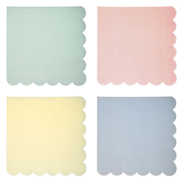 Meri Meri Pastel - Large Paper Napkins -  Party Supplies - Meri Meri UK - Putti Fine Furnishings Toronto Canada - 1