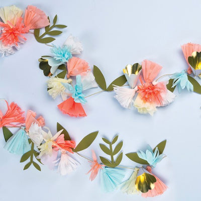 Meri Meri Flower Bouquet Garland -  Party Supplies - Meri Meri UK - Putti Fine Furnishings Toronto Canada - 7