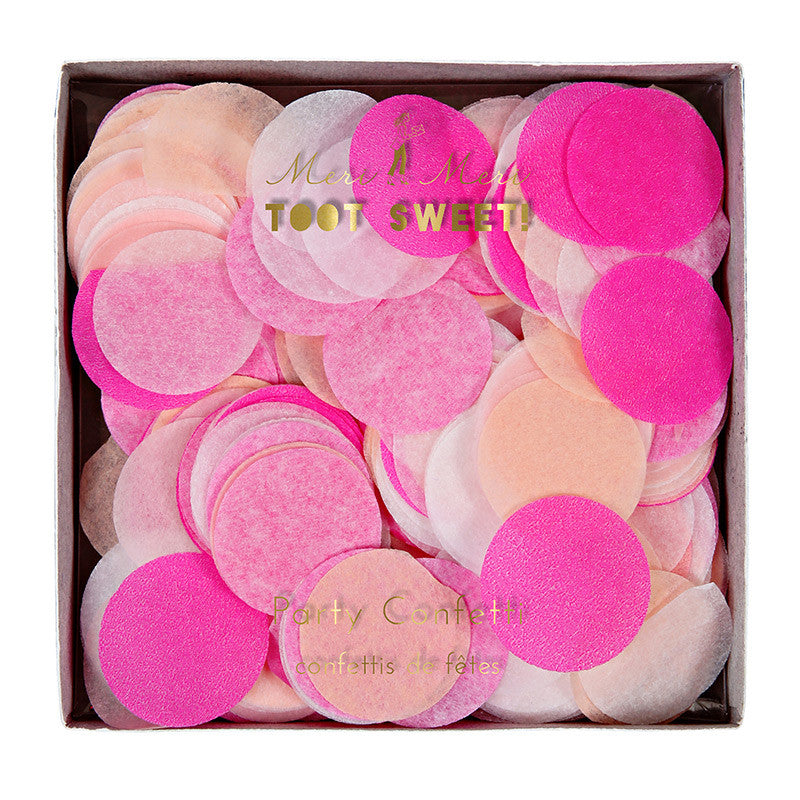 Meri Meri Confetti - Pink -  Party Supplies - Meri Meri UK - Putti Fine Furnishings Toronto Canada