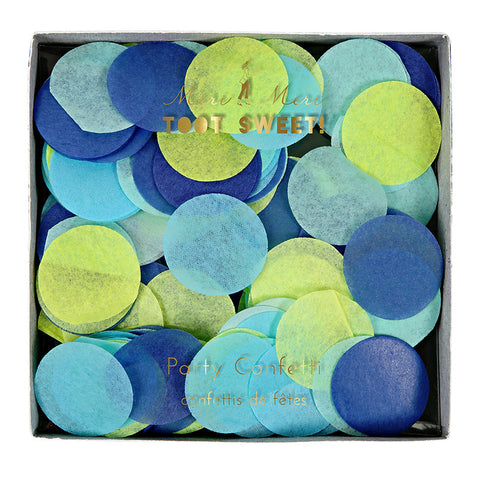 Meri Meri Confetti - Blue -  Party Supplies - Meri Meri UK - Putti Fine Furnishings Toronto Canada