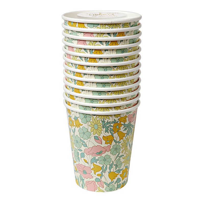 Meri Meri Liberty Poppy & Daisy - Paper Cup -  Party Supplies - Meri Meri UK - Putti Fine Furnishings Toronto Canada - 1