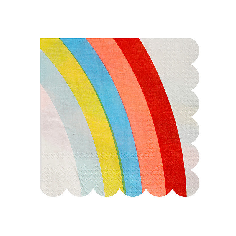"""Rainbow"" Paper Napkins - Small -  Party Supplies - Meri Meri UK - Putti Fine Furnishings Toronto Canada - 1"
