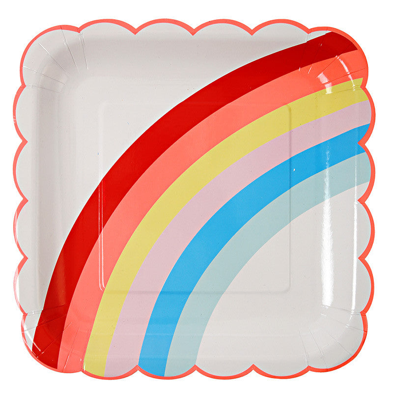 """Rainbow"" Paper Plates - Large -  Party Supplies - Meri Meri UK - Putti Fine Furnishings Toronto Canada - 1"