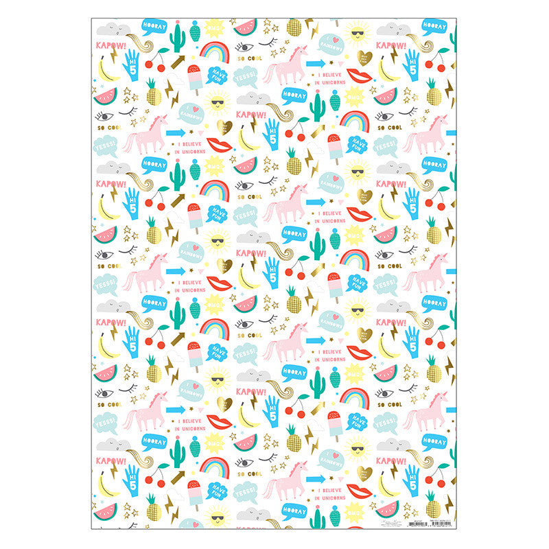 Meri Meri Icons Wrapping Paper, MM-Meri Meri UK, Putti Fine Furnishings