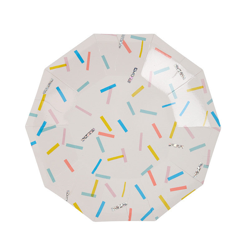 "Meri Meri ""Toot Sweet"" Sprinkles Small Paper Plates, MM-Meri Meri UK, Putti Fine Furnishings"