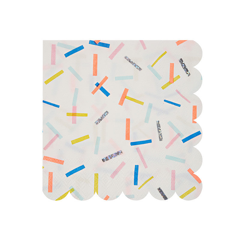 "Meri Meri ""Toot Sweet"" Sprinkles Small Paper Napkins, MM-Meri Meri UK, Putti Fine Furnishings"