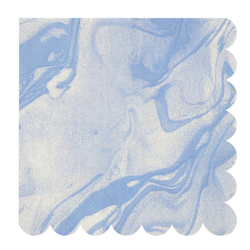 Blue and White Marble - Large Paper Napkins, MM-Meri Meri UK, Putti Fine Furnishings