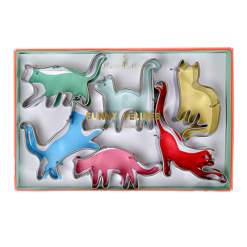 "Meri Meri ""Funny Felines"" Cookie Cutters, MM-Meri Meri UK, Putti Fine Furnishings"