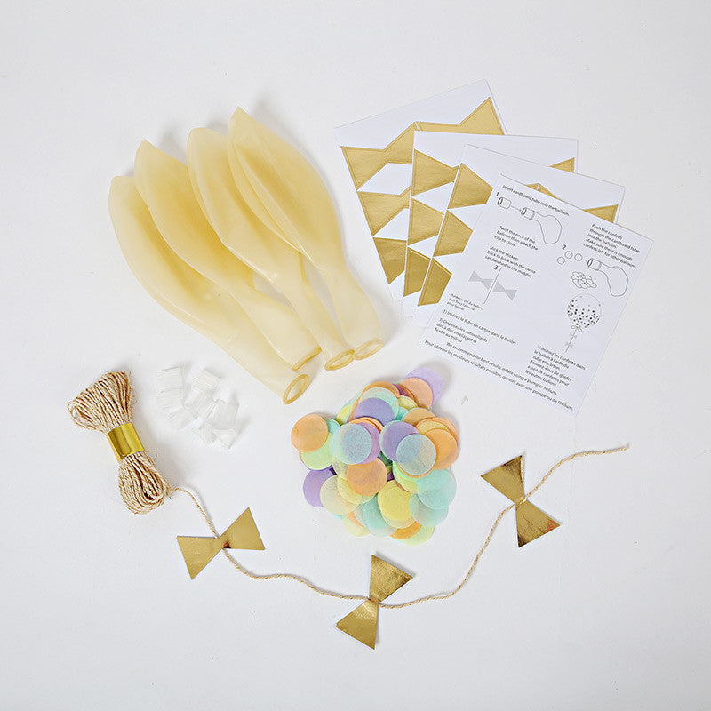 Meri Meri Confetti Balloon Kit - Pastel -  Party Supplies - Meri Meri UK - Putti Fine Furnishings Toronto Canada - 1
