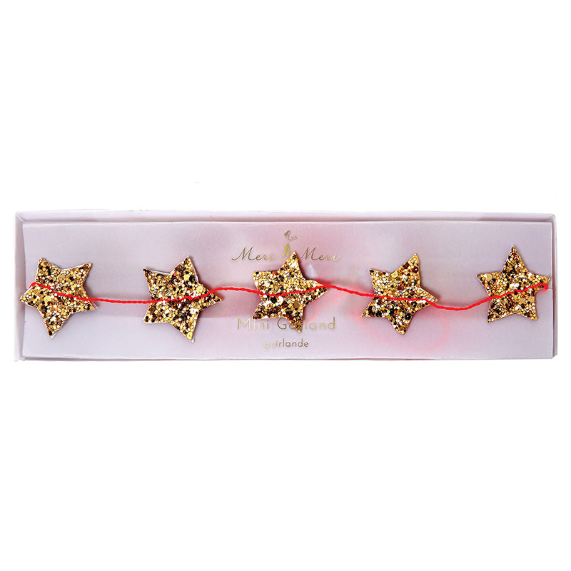 Meri Meri Gold Stars Mini Garland