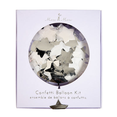 Meri Meri Confetti Balloon Kit - Silver Stars, MM-Meri Meri UK, Putti Fine Furnishings