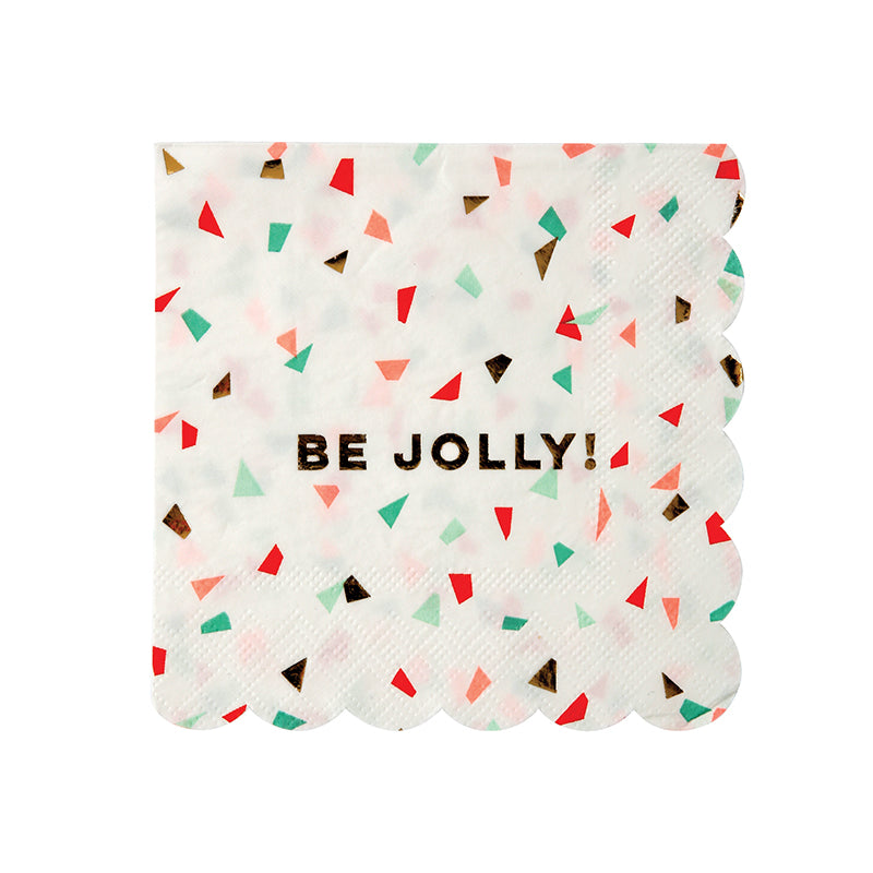 "Meri Meri Confetti ""Be Jolly"" - Small Paper Napkins"