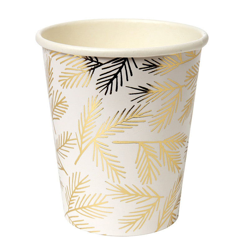 Gold Pine - Paper Cups, MM-Meri Meri UK, Putti Fine Furnishings