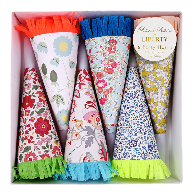 Meri Meri Liberty Party Horns -  Party Supplies - Putti Fine Furnishings - Putti Fine Furnishings Toronto Canada