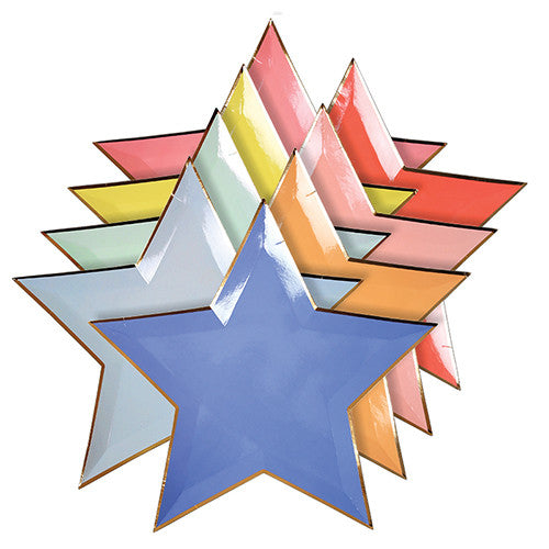 Meri Merri Jazzy Star Plates -  Party Supplies - Meri Meri UK - Putti Fine Furnishings Toronto Canada - 1