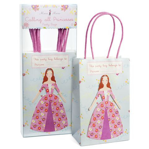 Meri Meri Princess Party Bags-Gift Bags-MM-Meri Meri UK-Putti Fine Furnishings