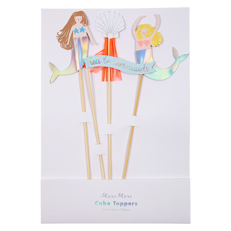 "Meri Meri ""Let's be Mermaids"" Cake Toppers -  Party Supplies - MM-Meri Meri UK - Putti Fine Furnishings Toronto Canada - 1"