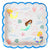 "Meri Meri ""Let's be Mermaids"" Paper Plates -  Party Supplies - MM-Meri Meri UK - Putti Fine Furnishings Toronto Canada - 1"