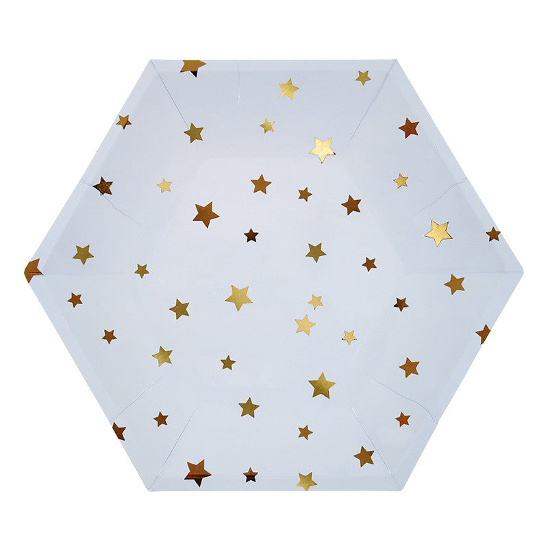 Meri Meri Multicolour Star Plates -  Party Supplies - Meri Meri UK - Putti Fine Furnishings Toronto Canada - 1