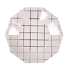 Silver Grid Paper Plates - Small, MM-Meri Meri UK, Putti Fine Furnishings