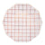 Rose Gold Grid Paper Plates - Large