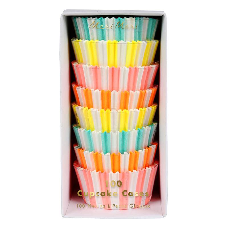 Meri Meri Cupcake Cases -  Neon Stripe, MM-Meri Meri UK, Putti Fine Furnishings