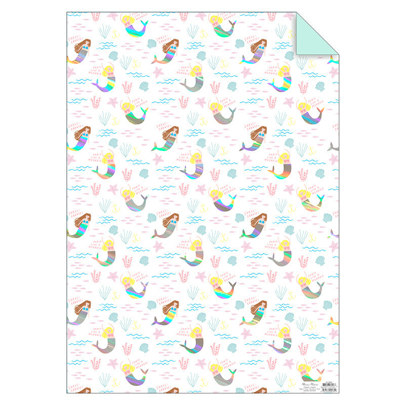 Meri Meri Mermaid Wrapping Paper -  Party Supplies - Meri Meri UK - Putti Fine Furnishings Toronto Canada