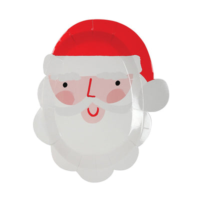 "Meri Meri Die Cut ""Santa Head"" Paper Plate-Christmas-MM-Meri Meri UK-Putti Fine Furnishings"