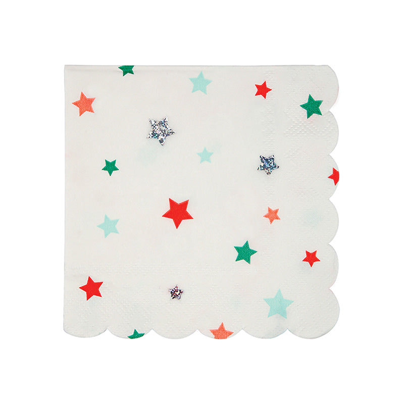 Meri Meri Star Pattern Paper Napkins - Small
