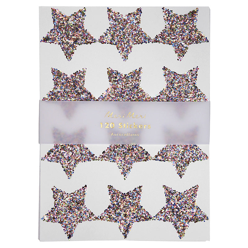 Meri Meri Chunky Glitter Star Stickers - Multi Color